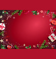 christmas festive template frame vector image vector image