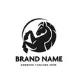 circle horse head logo vector image vector image