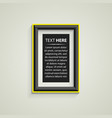 classis frame on the wall vector image