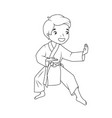 coloring book little boy wearing kimono vector image vector image
