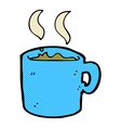 comic cartoon mug of coffee vector image vector image