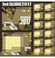 desk calendar 2017 vector image