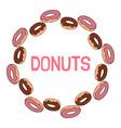donuts doodles ornamental wreath vector image