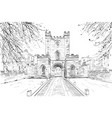 durham castle durham england great britain vector image vector image