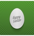 Easter greeting Card Template Realistic paper Egg vector image vector image
