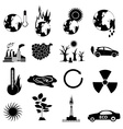 environment pollution icons set vector image vector image