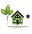 environmental concept house tree energy vector image