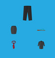 flat icon dress set of cravat pants beach sandal vector image vector image