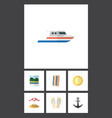 flat icon season set of boat wiper reminders and vector image vector image