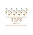 floral image with stylized lilies or tulips vector image vector image