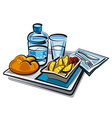 food for passengers vector image