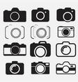 foto camera icon set vector image