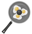 fried eggs in a frying pan 02 vector image vector image