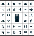 friendship icons universal set for web and ui vector image