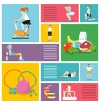 Gym exercises people vector image vector image