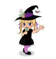 halloween cartoon character of little baby girl vector image