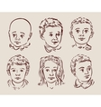 hand-drawn children vector image