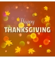 Happy thanksgiving day greeting card lettering vector image vector image