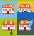 home insurance from natural disasters concept vector image vector image