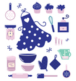 housewife icons vector image vector image