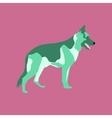 in flat style German Shepherd vector image vector image