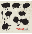 Ink stains set 5 vector | Price: 1 Credit (USD $1)