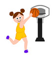 isolated basketball player scoring a point vector image vector image