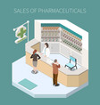 isolated pharmaceutical production composition vector image