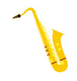 isolated saxophone instrument vector image vector image