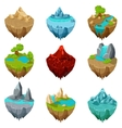 Isometric game islands vector image vector image