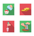 jam diet accessories and other web icon in flat vector image vector image