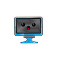 kawaii screen monitor computer device vector image vector image