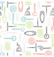 kitchen utensils color seamless pattern vector image