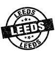 leeds black round grunge stamp vector image vector image