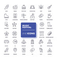 line icons set music festival vector image vector image