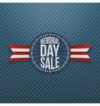 Memorial Day Sale Banner with Text and Shadow vector image vector image