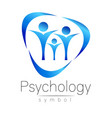 modern people psi sign of psychology family human vector image vector image