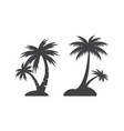 palm tree icon design template isolated