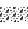 pet shop seamless pattern with flat icons vector image vector image
