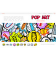 pop art bright web page concept vector image