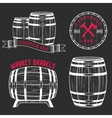 set and logos cooperage workshops vector image