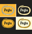 set banners with italian pasta and inscription vector image