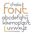 set of english alphabet letters isolated lower vector image