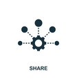 share icon symbol creative sign from seo and vector image