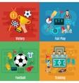 Soccer Flat Set vector image vector image