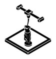 statue d printing icon simple style vector image vector image