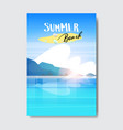 summer beach landscape badge design label season vector image vector image