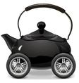 Teapot on Wheels vector image vector image