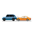 traffic collision traffic accident with damaged vector image vector image