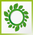 tree with circles and leaves on the branches vector image vector image